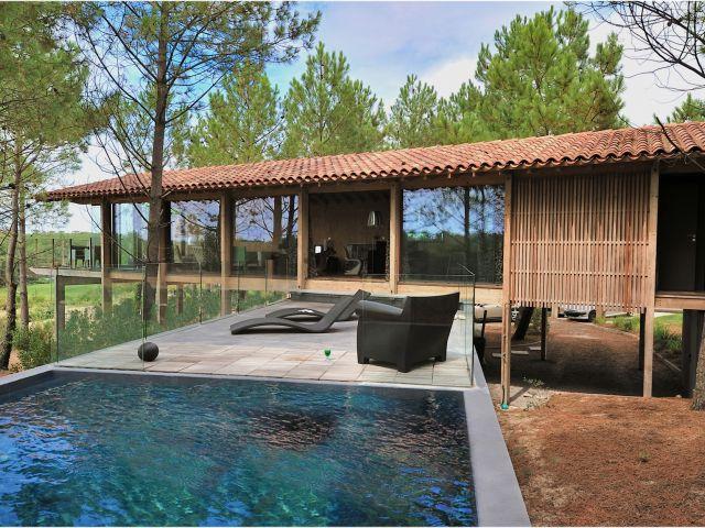 villa moderne landes plage golf hossegor seignosse moliets landes immobilier hossegor. Black Bedroom Furniture Sets. Home Design Ideas